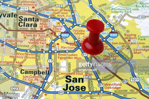'San Jose, California on a map'