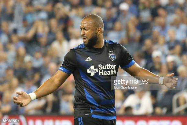 San Jose Earthquakes defender Victor Bernardez complains about a call in overtime of the Lamar Hunt US Open Cup semifinal between the San Jose...