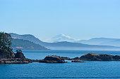 San Juan islands with Mt. Baker on background