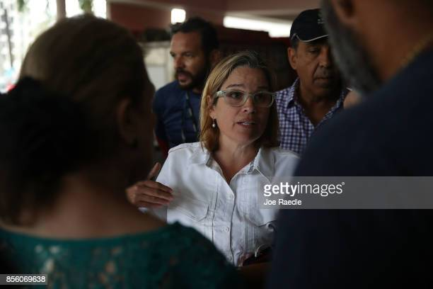 San Juan Mayor Carmen Yulin Cruz deals with an emergency situation where patients at a hospital need to be moved because a generator stopped working...
