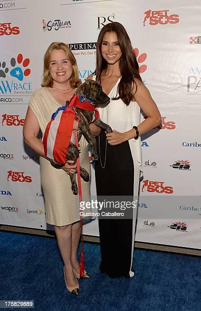 San Juan mayor Yulin Cruz and Roselyn Sanchez attend Roselyn Sanchez's Amazing Paw Paw Race Puerto Rico Vip Cocktail Party at Caribe Hilton Hotel on...