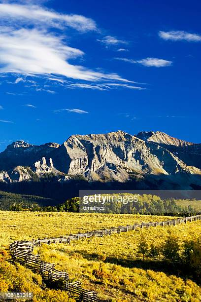 San Juan Mountains with Aspen Forest and Fields