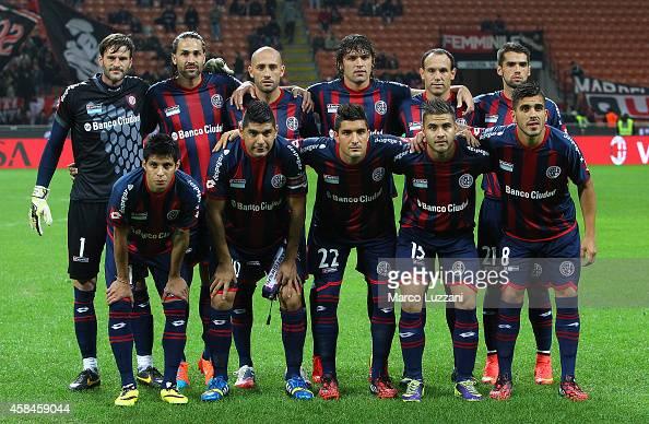 San Lorenzo team line up before Luigi Berlusconi Trophy at Stadio Giuseppe Meazza on November 5 2014 in Milan Italy