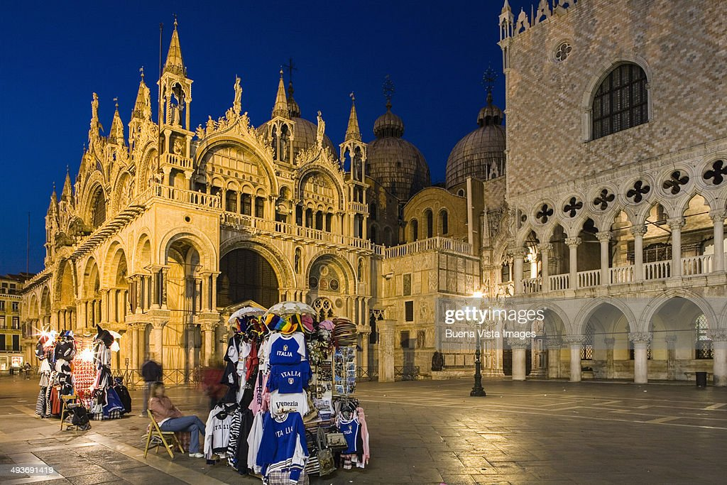 San Marco Square at night : Stock Photo