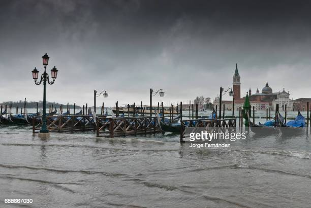 San Marco square flooded by 'Acqua alta'