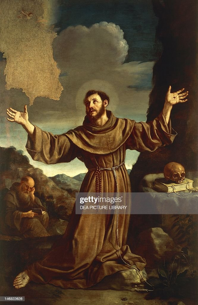 San Marino, Museo Pinacoteca San Francesco (Art Museum) St Francis of Assisi Receiving the Stigmata, by Giovanni Francesco Barbieri, known as Guercino (1591-1666).