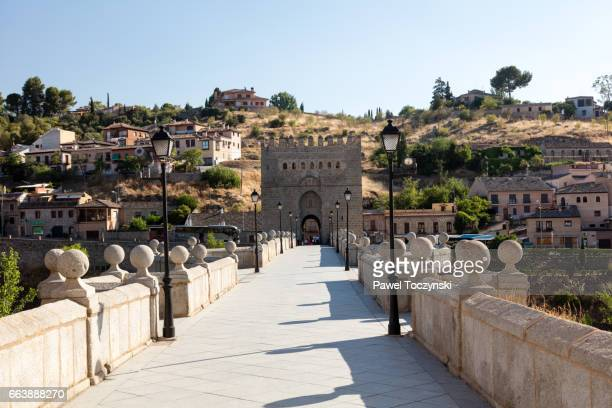 San Martin's medieval stone bridge, Toledo, Spain