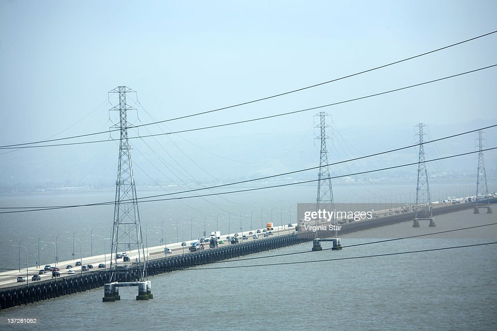 San Mateo Bridge Over San Francisco Bay : Stock Photo