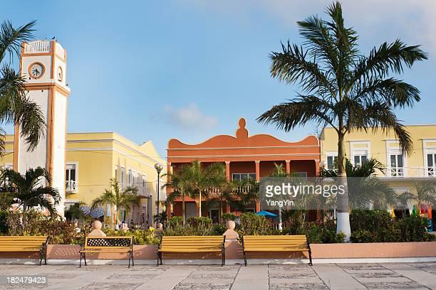 San Miguel Plaza del Sol Clock Tower, Cozumel, Yucatan, Mexico
