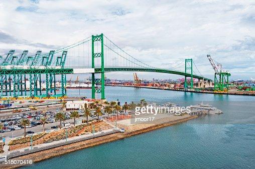 San Pedro Ship Yard with Bridge