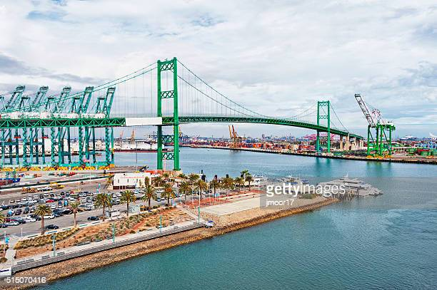 San Pedro Ship Yard with Bridge