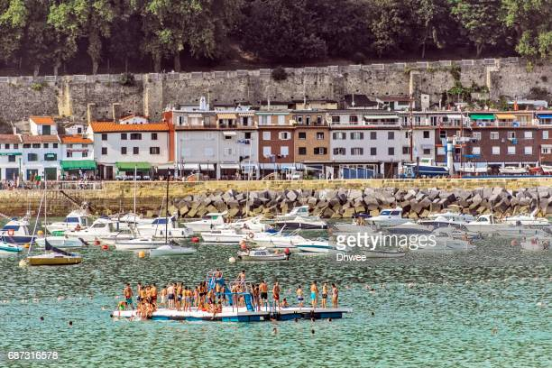 San Sebastian Or Donostia Harbour In Summer. Spain.