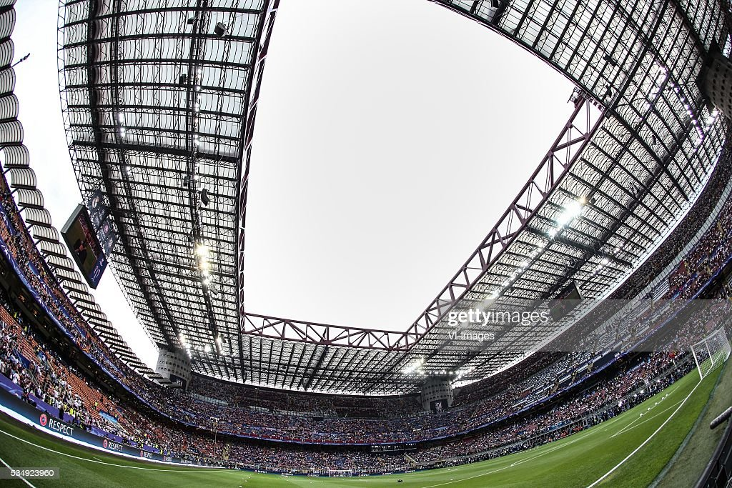 San Siro General view during the UEFA Champions League final match between Real Madrid and Atletico Madrid on May 28, 2016 at the Giuseppe Meazza San Siro stadium in Milan, Italy.