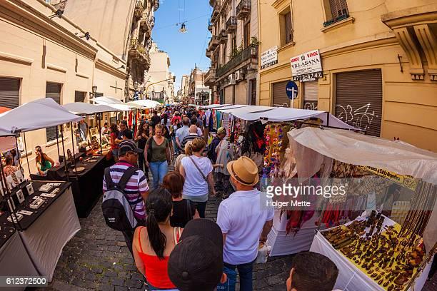 San Telmo mercado en Buenos Aires, Argentina
