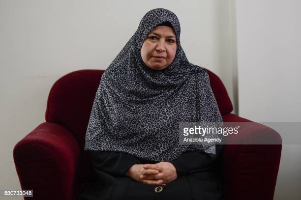 Sana Abdel Gawad mother of Asma Elbeltagy who was killed on Rabaa Massacre when she was 17 is seen during an exclusive interview in Istanbul Turkey...