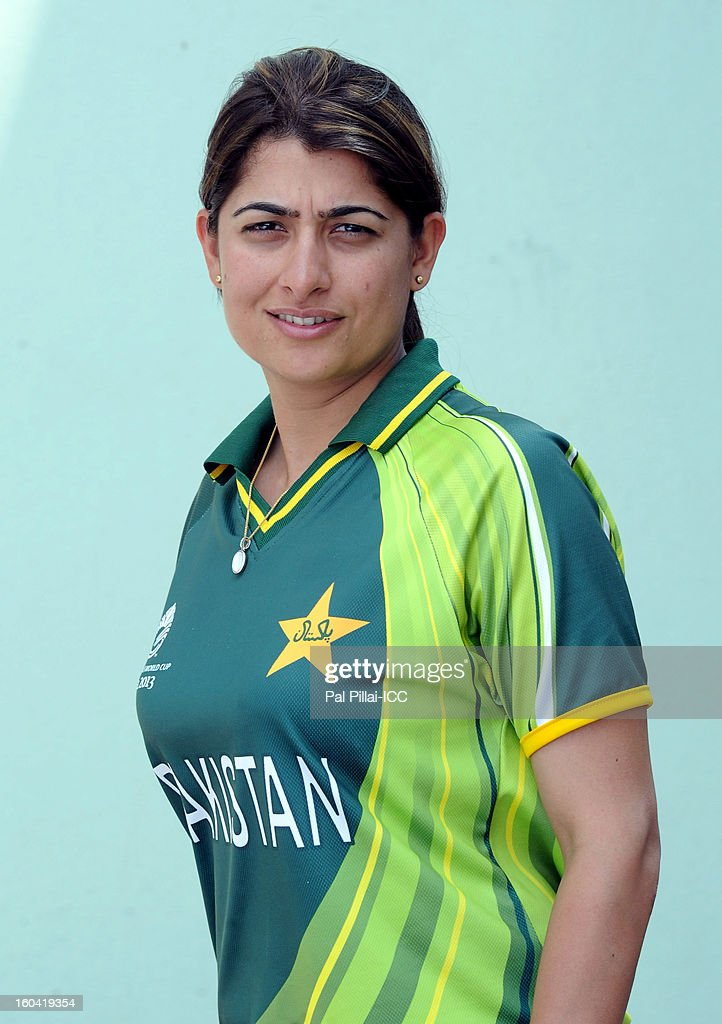 Sana Mir Captain of Pakistan attends a portrait session ahead of the ICC Womens World Cup 2013 at the Barabati stadium on January 31, 2013 in Cuttack, India.