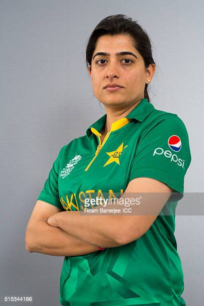 Sana Mir the Captain of Pakistan team during the photocall of the Pakistan team ahead of the Women's ICC World Twenty20 India 2016 on March 13 2016...