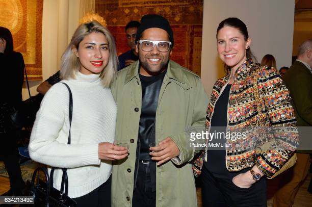 Sana Rezwan Sait Shivam Punjya and Courtney Sharma attend the ABC Carpet Home and Obeetee Celebrate the Launch of the Tarun Tahiliani Rug Collection...