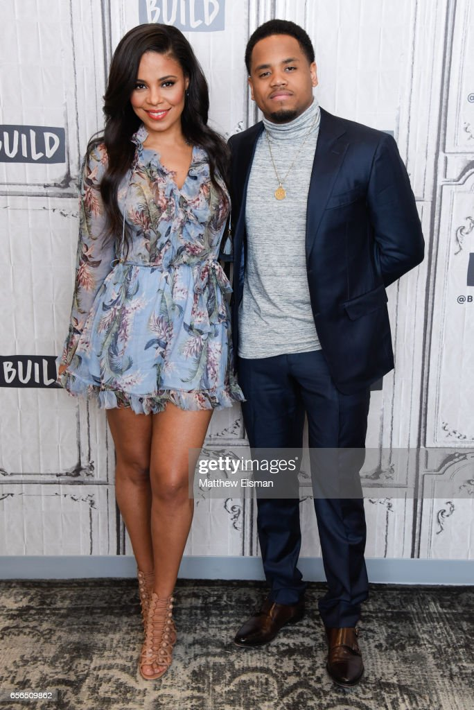 Sanaa Lathan (L) and Mack Wilds attend Build Series Presents Sanaa Lathan & Mack Wilds discussing 'Shots Fired' at Build Studio on March 22, 2017 in New York City.