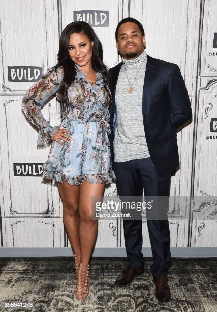 Sanaa Lathan and Mack Wilds attend the Build Series to discuss the show 'Shots Fired' at Build Studio on March 22 2017 in New York City