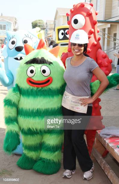 Sanaa Lathan and The Gabba Gang attend 'Yo Gabba Gabba' Habitat for Humanity charity event on August 12 2010 in Lynwood California