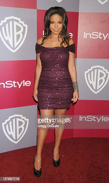 Sanaa Lathan arrives at the 12th Annual Warner Bros and Instyle PostGolden Globe Party at the Beverly Hilton Hotel on January 16 2011 in Beverly...