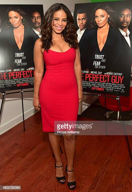 Sanaa Lathan attends 'THE PERFECT GUY' Press Dinner at Time Restaurant on August 6 2015 in Atlanta Georgia