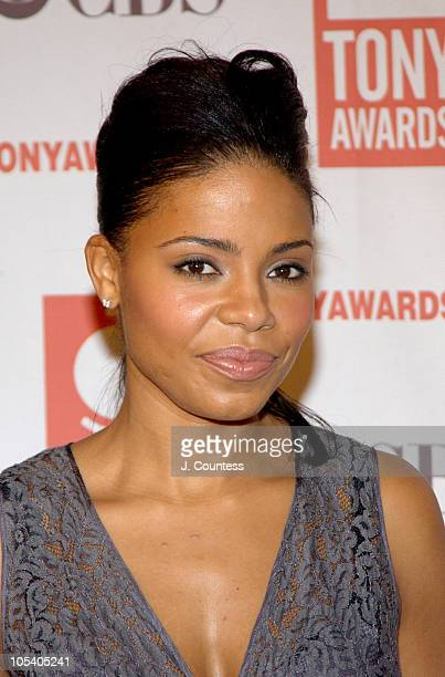 Sanaa Lathan during 2004 Tony Nominees Press Reception at Millennium Broadway Hotel in New York City New York United States