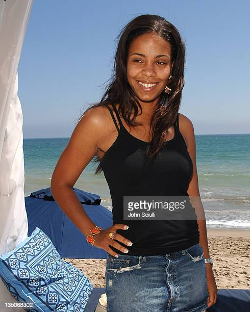 Sanaa Lathan during LOTTO World Cup Viewing Party at Polaroid Beach House at Polaroid Beach House in Malibu CA United States
