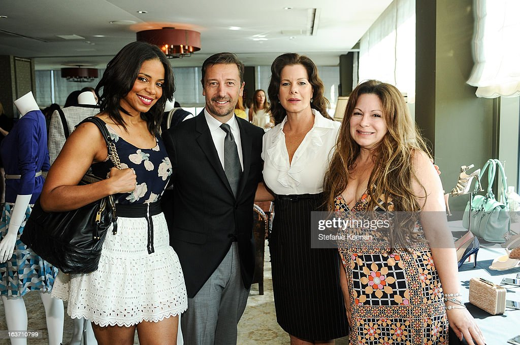 Sanaa Lathan, Mark Lukas, Marcia Gay Harden and Jessica Paster attend L.K. Bennett Tea Luncheon on March 14, 2013 in West Hollywood, California.