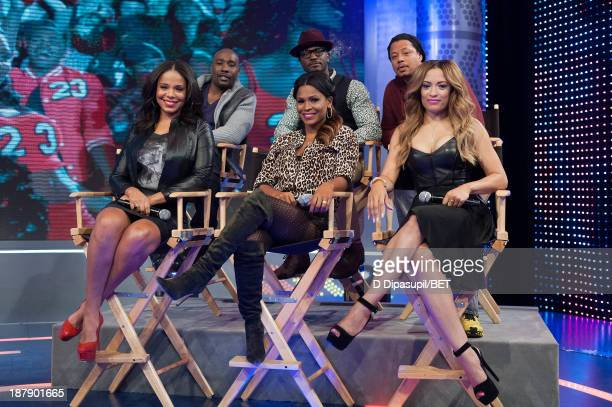 Sanaa Lathan Morris Chestnut Nia Long Taye Diggs Terrence Howard and Melissa De Sousa visit BET's '106 Park' at BET Studios on November 12 2013 in...