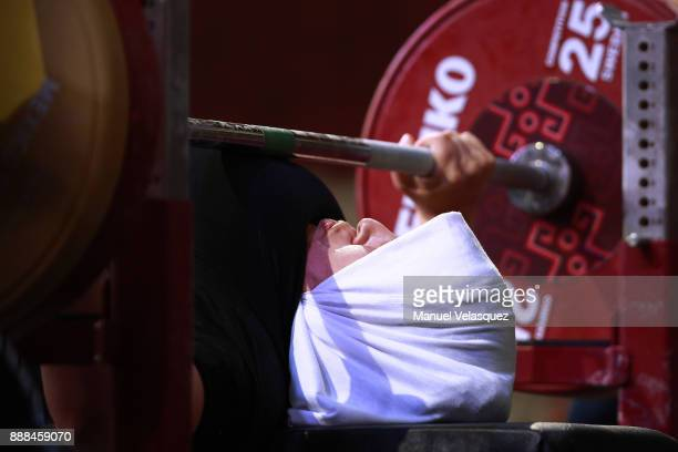 Sanae Soubane of Morocco competes during the Women's Upt to 73Kg Group A Category as part of the World Para Powerlifting Championship Mexico 2017 at...