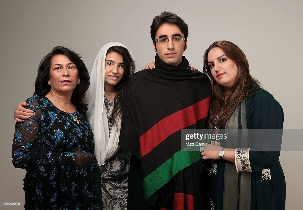 Sanam Bhutto, Aseefa Bhutto Zardari, <a gi-track='captionPersonalityLinkClicked' href=/galleries/search?phrase=Bilawal+Bhutto+Zardari&family=editorial&specificpeople=4779537 ng-click='$event.stopPropagation()'>Bilawal Bhutto Zardari</a> and Bakhtawar Bhutto Zardari pose for a portrait during the 2010 Sundance Film Festival held at the Getty Images portrait studio at The Lift on January 23, 2010 in Park City, Utah.