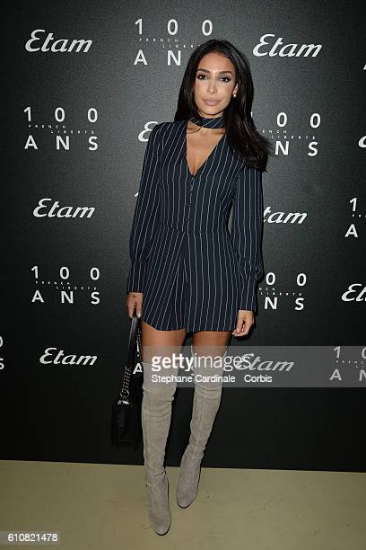 Sananas attends the Etam show as part of the Paris Fashion Week Womenswear Spring/Summer 2017 on September 27 2016 in Paris France