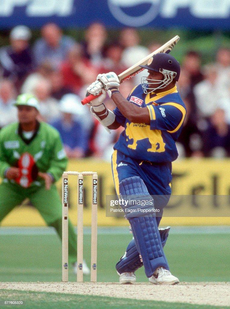 Sanath Jayasuriya batting for Sri Lanka during the ICC Cricket World Cup match between Kenya and Sri Lanka at Southampton England 30th May 1999