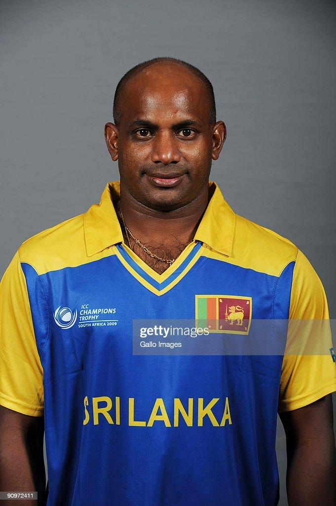 Sanath Jayasuriya poses during the ICC Champions photocall session of Sri Lanka at Sandton Sun on September 19 2009 in Sandton South Africa