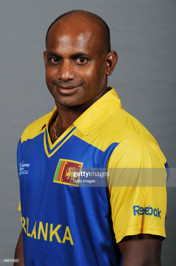 <a gi-track='captionPersonalityLinkClicked' href=/galleries/search?phrase=Sanath+Jayasuriya&family=editorial&specificpeople=206914 ng-click='$event.stopPropagation()'>Sanath Jayasuriya</a> poses during the ICC Champions photocall session of Sri Lanka at Sandton Sun on September 19, 2009 in Sandton, South Africa.