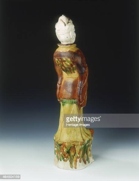Sancai pottery figure of an official of Khotanese type High Tang period China 684756 A glazed pottery figure of an official of Khotanese type...