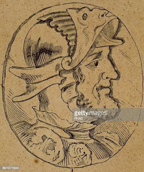 Sancho I of Leon King of Leon Portrait Engraving