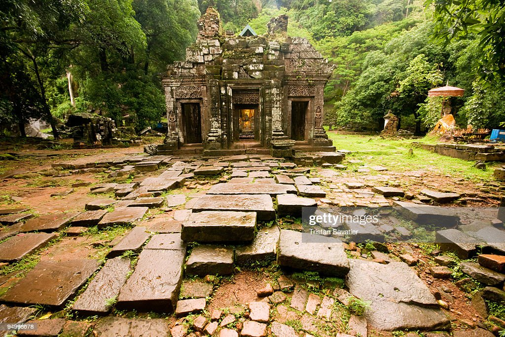 Champasak Laos  City pictures : Stock Photo : Sanctuary Wat Phu Champasak Laos