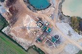 Sand and gravel pit - aerial view