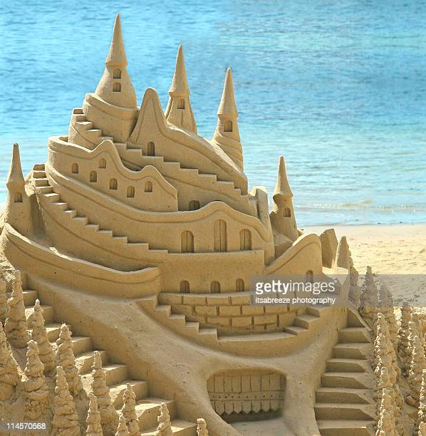 Sand castle by  sea
