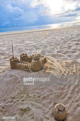 Castelo de areia : Foto de stock