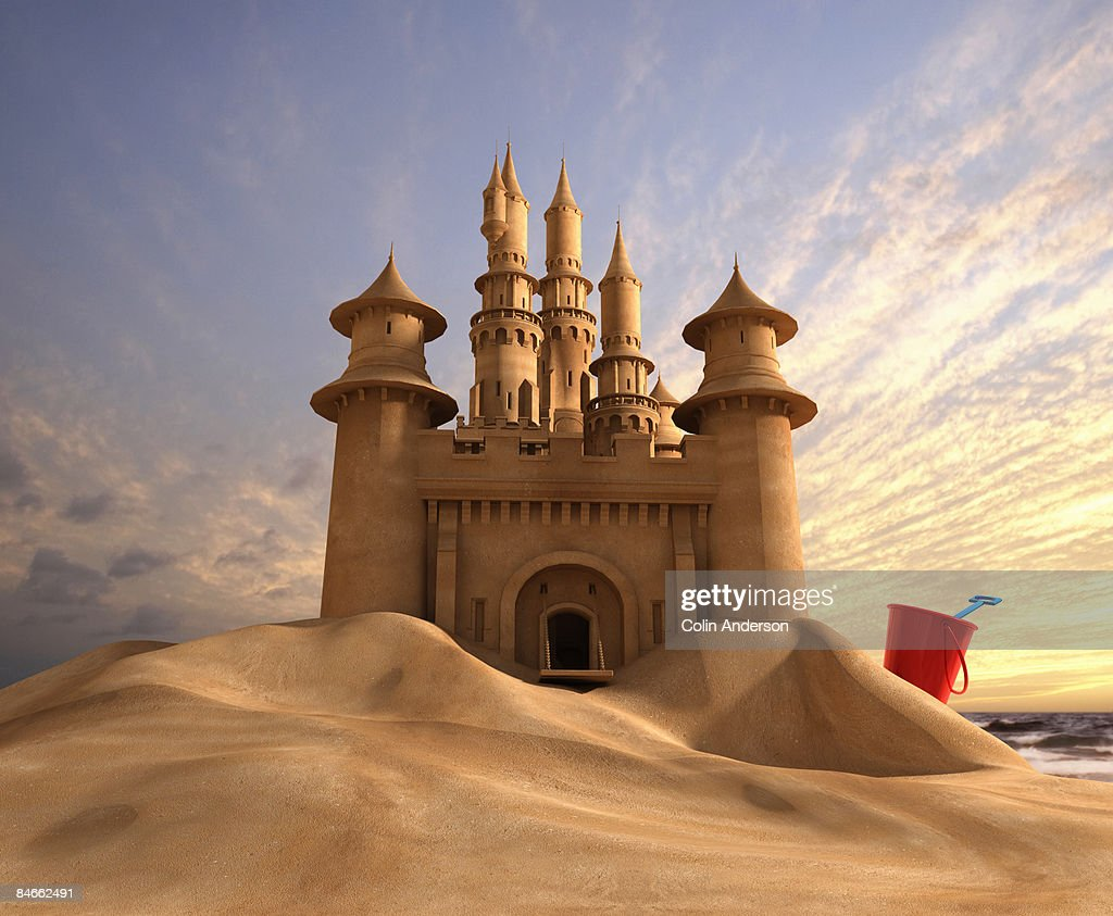 sand castle : Stock Photo
