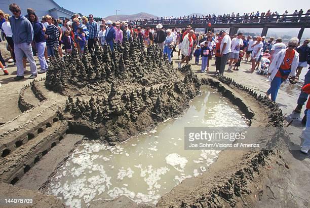 Sand Castle Sculpting Contest Cayucos California