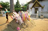 Sand Chedi at Thai Temple
