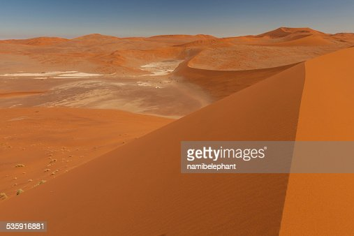 sand dune in Sossusvlei : Stock Photo