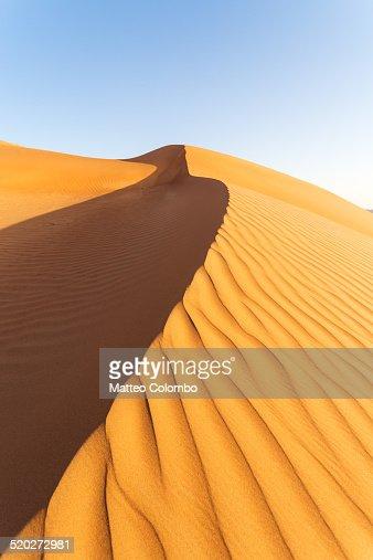 Sand dune in the desert of Wahiba sands, Oman