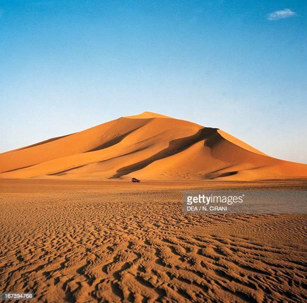 Sand dunes Erg Admer Djanet District Sahara Desert Algeria