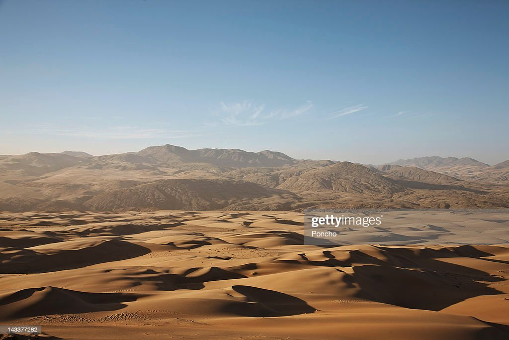 Sand dunes in front of Mountain Range